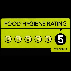 5 Out of 5 Food Hygiene Rating