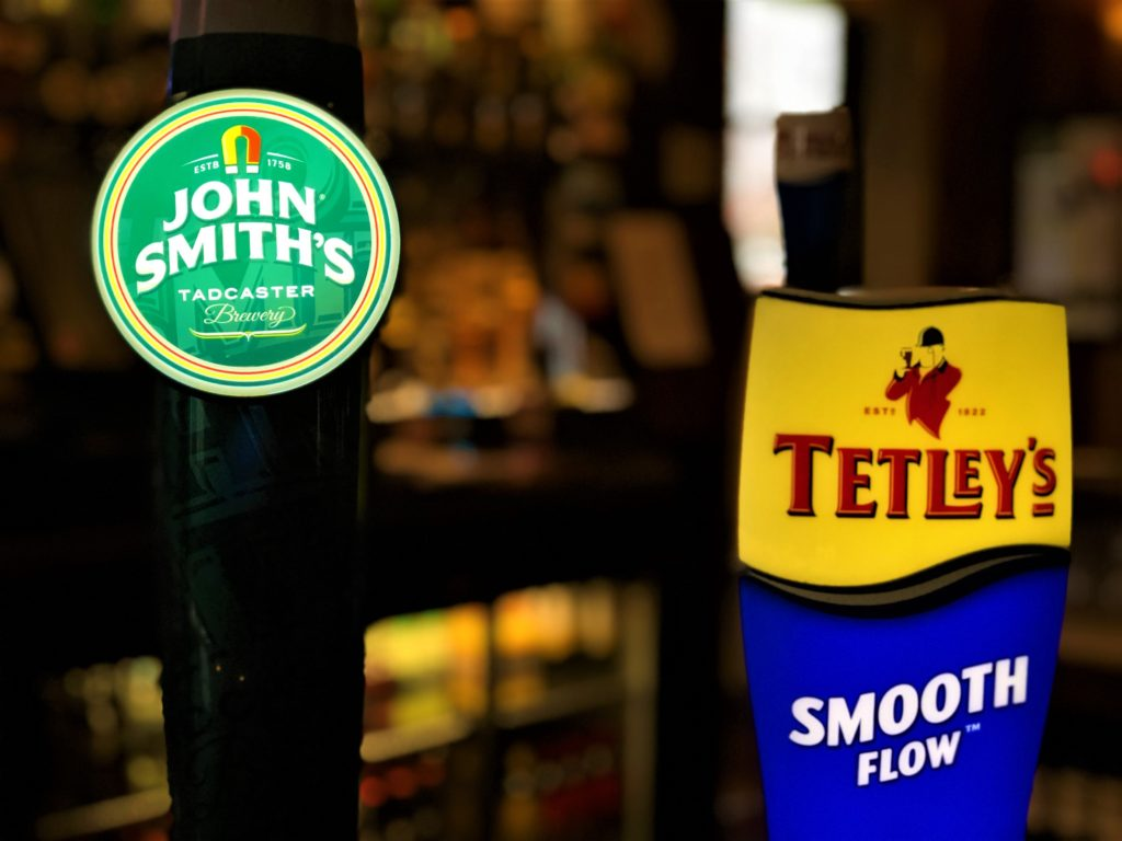 john smiths and tetleys at the Victoria Pub Allerton Bywater