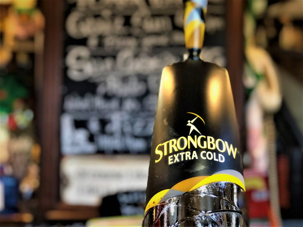 strongbow extra cold at the Victoria Pub Allerton Bywater