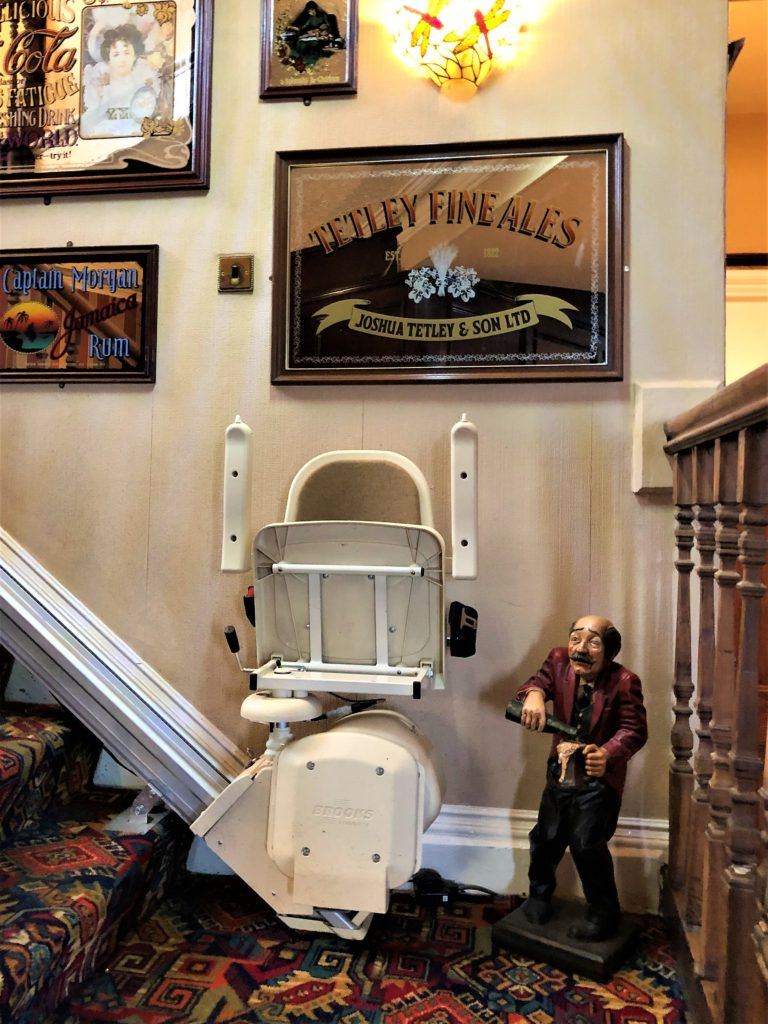 stair lift to upstairs function room at the Victoria Pub Allerton Bywater