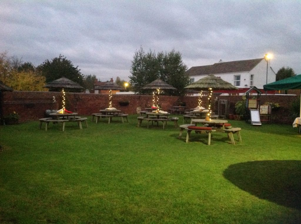 beer garden at the Victoria Pub Allerton Bywater