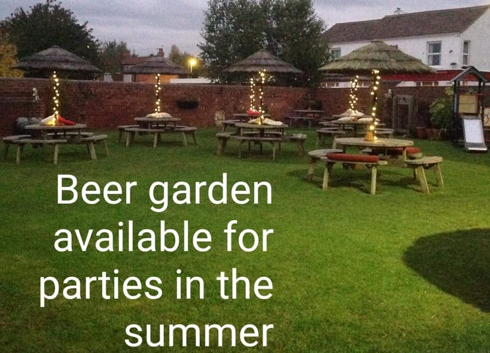 beer garden available to hire in the summer at the Victoria Pub Allerton Bywater